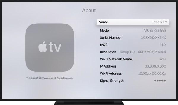 Apple TV Serial Number Find