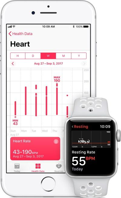 Heart Health Data on iPhone