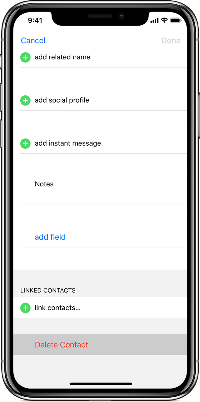 Manage and delete contacts on your iPhone, iPad, or iPod