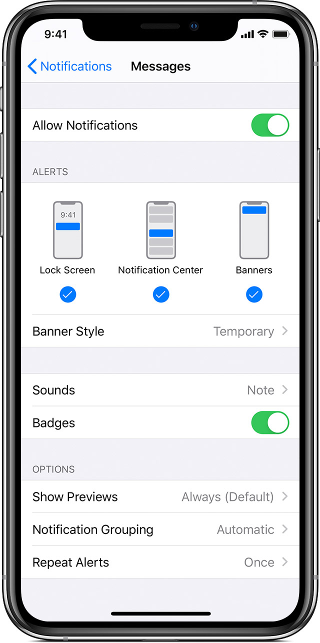 Use notifications on your iPhone, iPad, and iPod touch