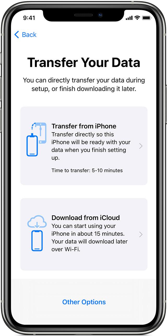 我的生活網誌: 將資料傳送到新的 iPhone