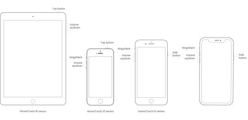 small resolution of images of ipad and iphone models showing buttons