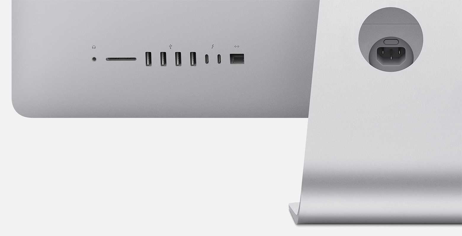 hight resolution of imac 21 5 inch 2017 has audio in sd card slot four usb a two thunderbolt 3 usb c and ethernet