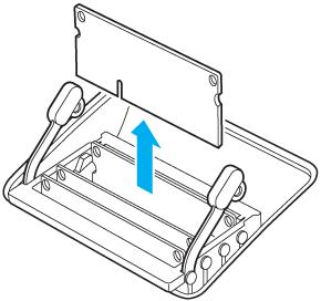 Retrait d'un modules DIMM en tirant verticalement