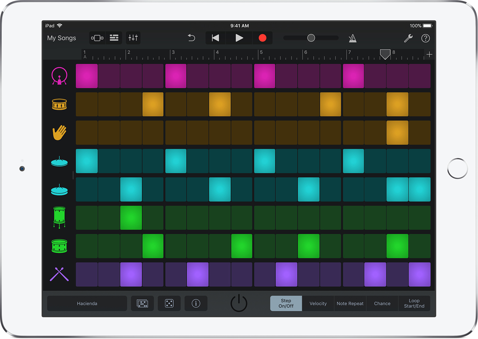 hight resolution of beat sequencer screen