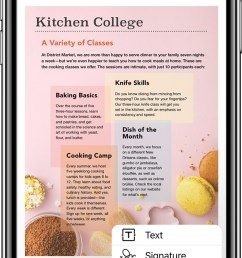 an iphone x with the apple books app open to a pdf with the markup menu [ 640 x 1286 Pixel ]