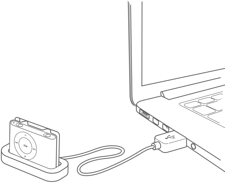Charge your iPod classic, iPod nano, and iPod shuffle