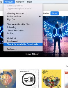 From the menu bar at top of your computer screen or itunes window choose account   check for available downloads also if music movies tv shows store unexpectedly rh supportle