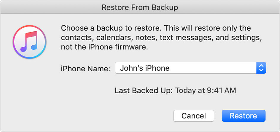 Restore Your IPhone IPad Or IPod Touch From A Backup