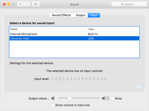 small resolution of to use your computer s audio input port as a sound input go to system preferences sound input