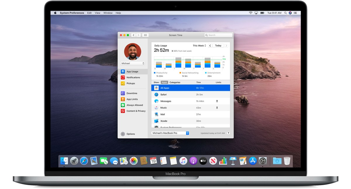 Image result for macos catalina screen time