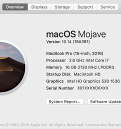 you ll see the macos name such as macos mojave followed by its version number if some product or feature requires you to know the build number as well  [ 1172 x 706 Pixel ]