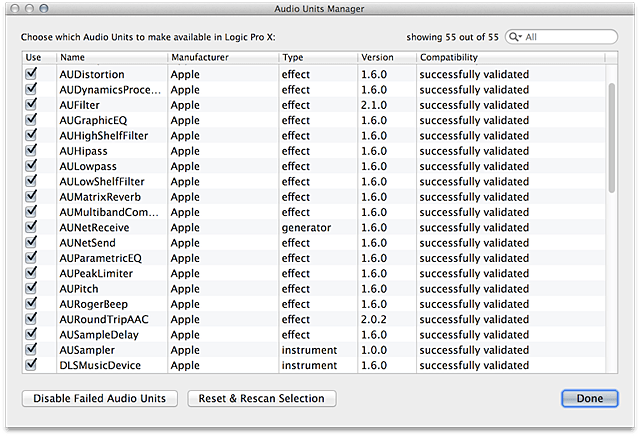 Logic Pro, Logic Express, MainStage: Disable or remove