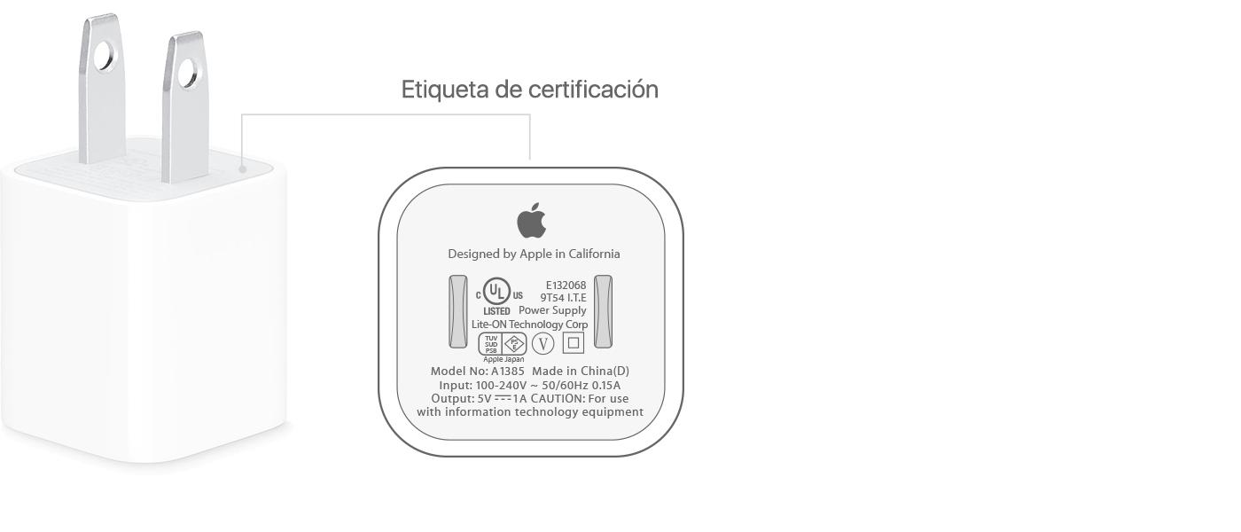 Acerca de los adaptadores de energía USB de Apple