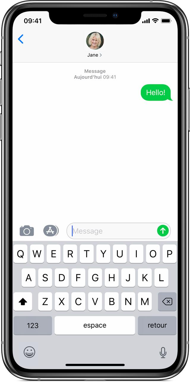 Si vous ne parvenez pas à envoyer ou recevoir de messages