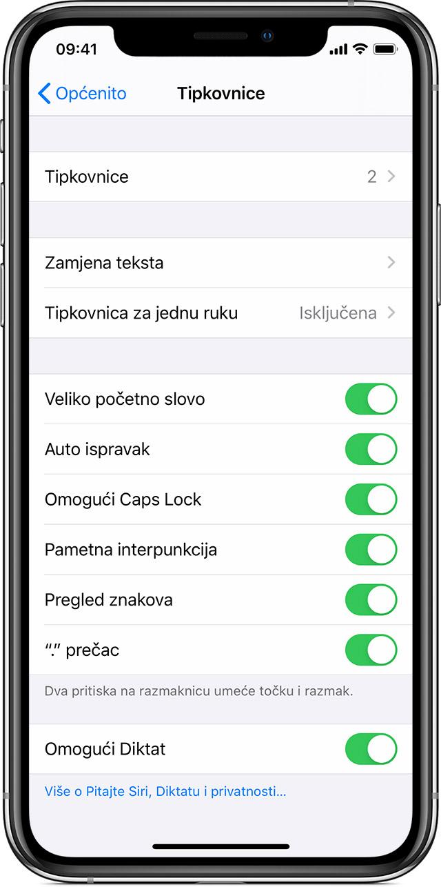 Postavke tipkovnica na iPhone, iPad i iPod touch uređajima
