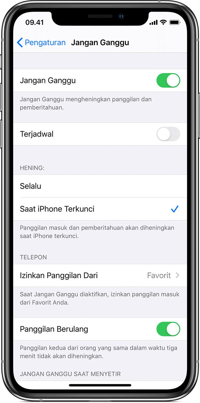 Menggunakan Jangan Ganggu di iPhone, iPad, dan iPod touch