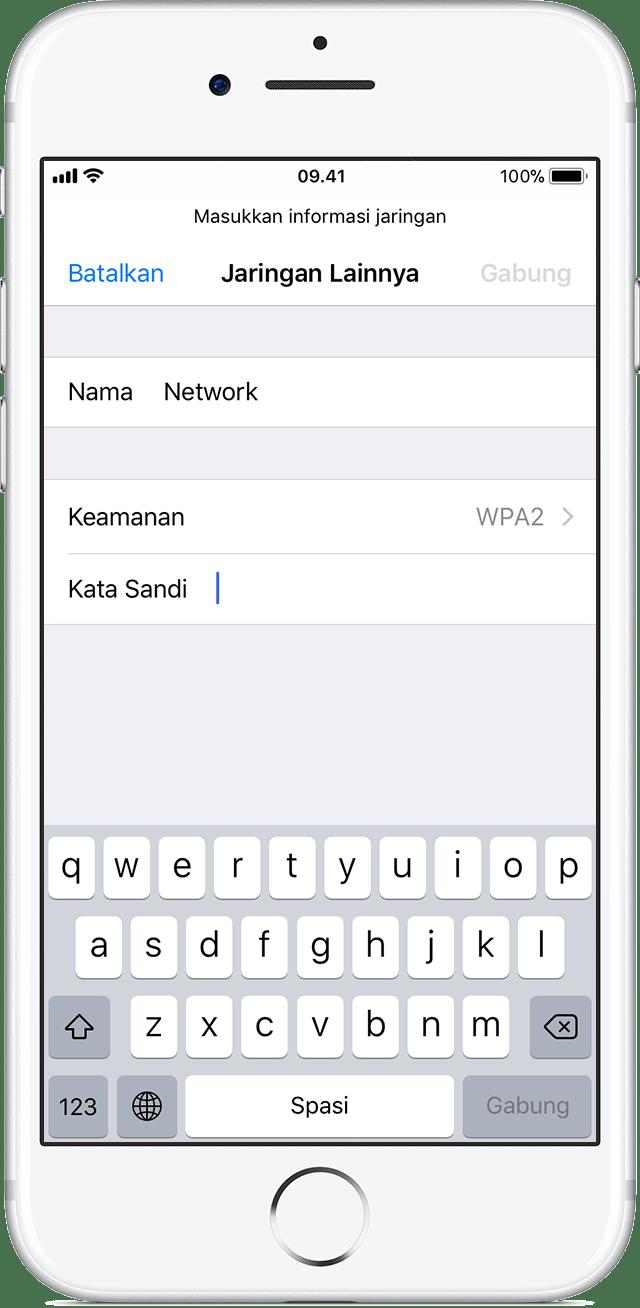 Menyambungkan ke Wi-Fi di iPhone, iPad, atau iPod touch