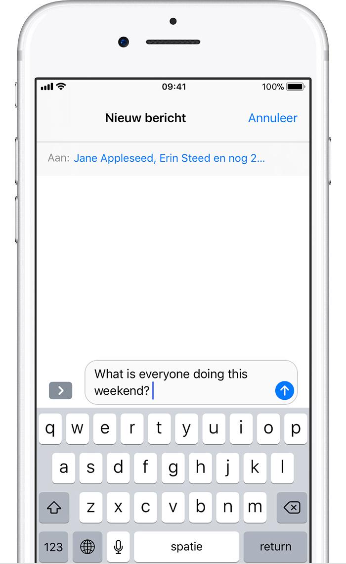 Een groepsbericht versturen op een iPhone, iPad of iPod