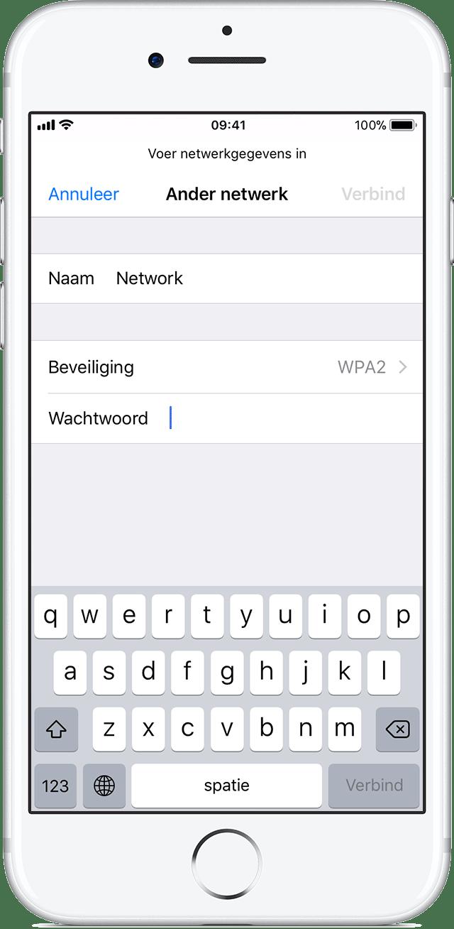 Verbinding maken met wifi op een iPhone, iPad of iPod