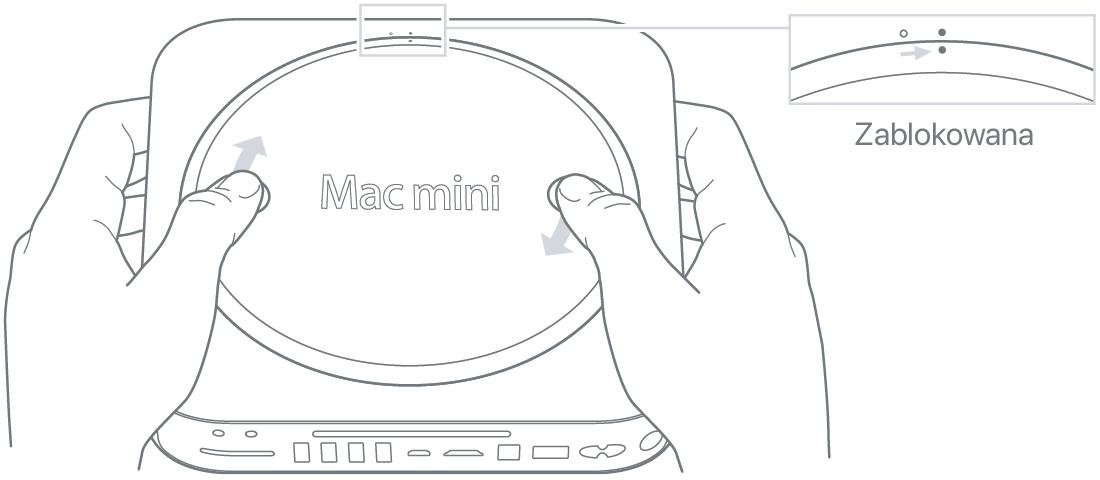 Rozbudowa lub instalowanie pamięci w komputerze Mac mini