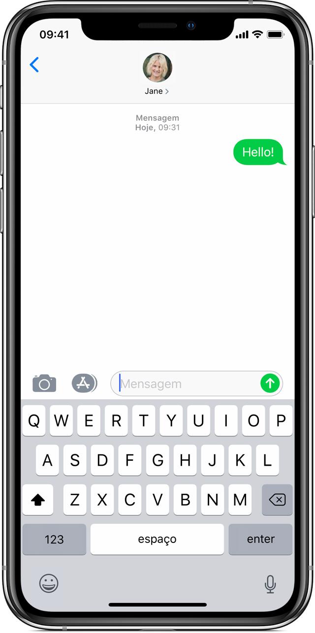 Se não conseguir enviar ou receber mensagens no seu iPhone