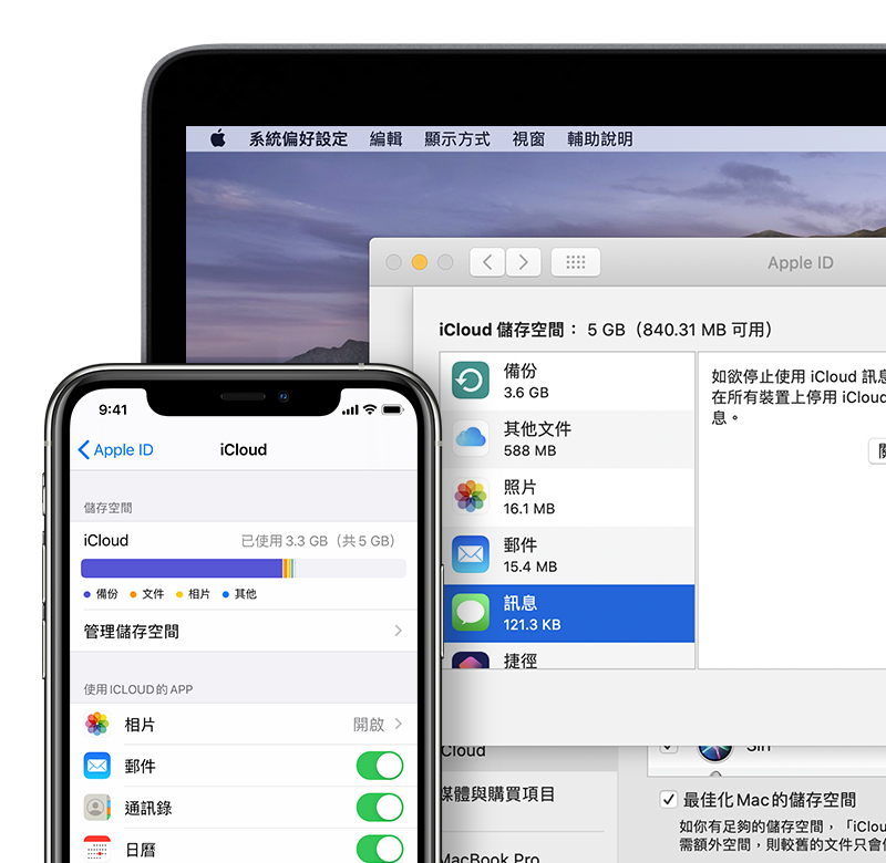 iCloud 儲存空間內「其他」類別的內容 - Apple 支援