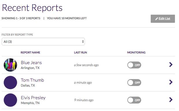 How do I delete reports?