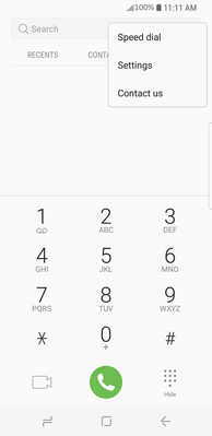 How to display or hide my caller ID on my Samsung Galaxy S8+
