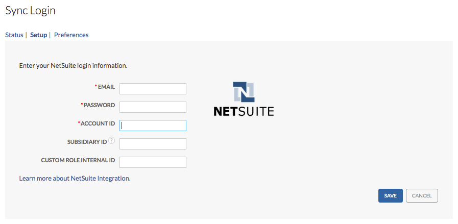 NetSuite Sync Setup Guide
