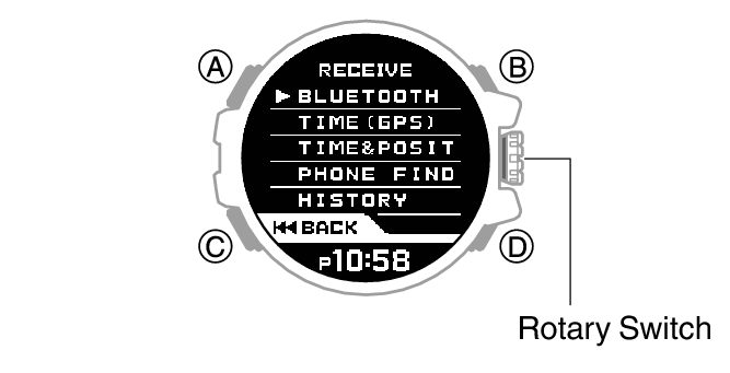 Checking Time Adjustment History Module No. 3452 G-SHOCK