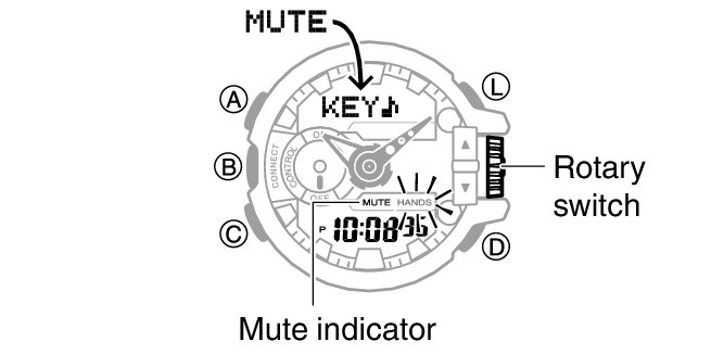 Enabling the Button Operation Tone Module No. 5413 G-SHOCK