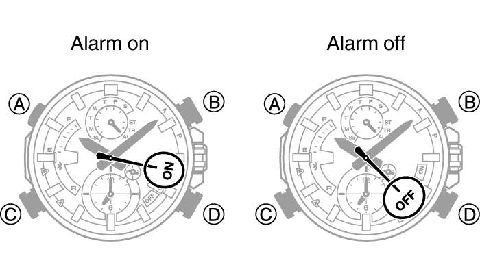 Turning the Alarm On or Off Module No. 5560 EDIFICE