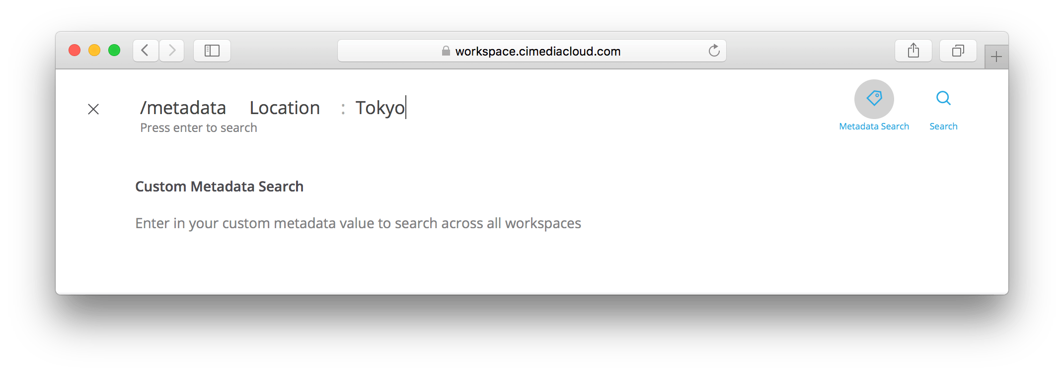User Guide: Metadata based Search