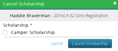 CT6 - Cancel Scholarship