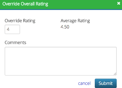 Override Overall Rating