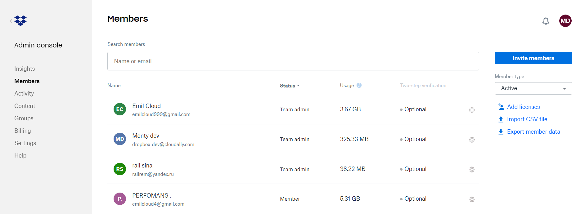 How to find your storage size in Dropbox?