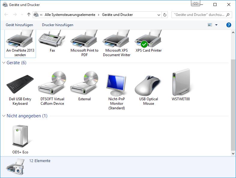 WS#54734: Installation Windows-Drucker-Treiber für Cx-OD5