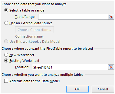 إنشاء Pivottable لتحليل بيانات ورقة العمل دعم Office