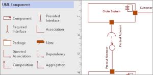 Create a UML ponent diagram  Visio