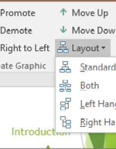 Shows the layout option in smartart tools also create an organization chart office support rh