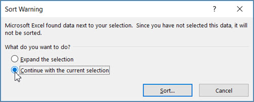 Sort data in a range or table - Excel