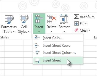 Insert Or Delete A Worksheet  Excel