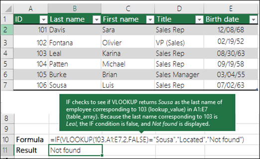 VLOOKUP Example 3