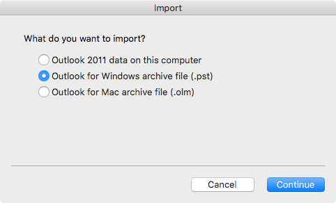 Import Email Messages Contacts And Other Items Into