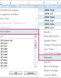 Number filters between also video filter data in  range or table excel rh support office