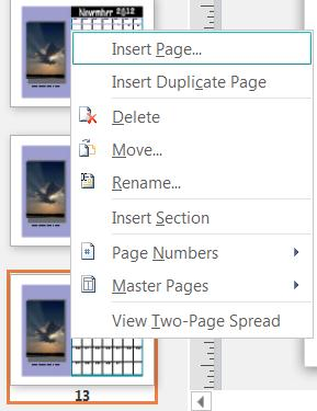 add calendar pages in