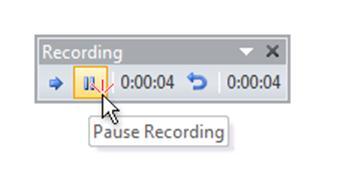 Pause recording narration