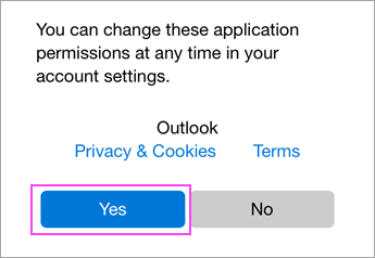 Allow permissions.