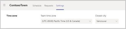 Set the time zone in Shifts for Microsoft Teams